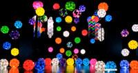 Wholesale 500PCS IQ Lamp Puzzle Pendants Lamp DIY Modern Pendant Ball Novel Gift More Colors For Choose