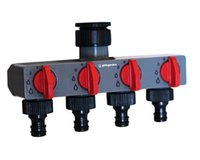 adapter distributor - 4 Way Water Distributor Tap Adapter ABS Plastic Connector Hose Splitters for Hose Tube Water Faucet