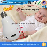 audio control interface - Ce RoHS Certification E26 E27 B22 Interface Wireless Bluetooth Speaker bt4 with RGB LED Light Bulb