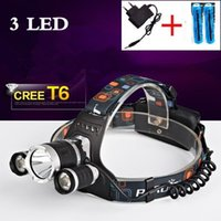 Wholesale 5000LM CREE XML T6 LED Headlight Headlamp Head Lamp Light mode torch x18650 battery charger for fishing Lights