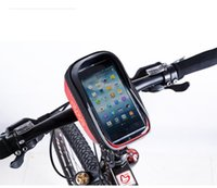 Wholesale Black Silver and Red New Cellphone Cycling Bag Bike Bicycle Pannier Front Frame Handlebar Bag Pouch Phone Bag Bag005