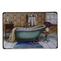 bathroom tub paint - Tin Sign M22 Wall Decor Retro Metal Art Poster Classic Bath Tub Bathroom Painting
