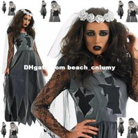 angels ghosts - DHL free ship Halloween Costumes Ghost bride night angel clown clothes bar service Halloween cosplay vampire clothing photo shoot service