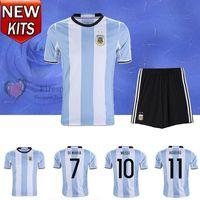 argentina home kit - 2016 Argentina Soccer Jersey Adult kits camisetas de futbol LEO Messi Maillot Maradona Di Maria Kun Aguero Higuain home sets Football Shirts