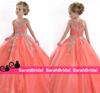 baby girl cinderella - First Communion Girl s Beauty Flower Pageant Dresses For Baby Kids Teens Cheap Rhinestone Cinderella Ball Birthday Prom Party Gowns Sale