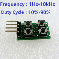 adjustable frequency generator - SG11A02 kHz Duty Cycle amp Frequency Adjustable PWM Square Wave Pulse Generator Module replace NE555 LM358 CD4017 DDS