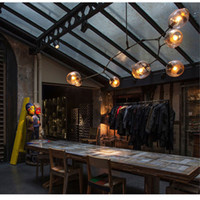 bar shade - Vintage Loft Industrial Pendant Lights Black Gold Bar Stair Dining Room Glass Shade Retro Lindsey adelman Pendant Lamp Fixtures