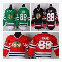 Wholesale Kids Patrick Kane Jersey Youth Red Chicago Blackhawks Black Patrick Kane Youth Jersey Green For Boys Children Girls Fans