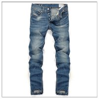 ad jeans - Famous Brand Men Jeans Fashion Designer denim Blue Printed Pants For Male AD Men s Trousers button fly jeans men A8083
