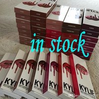 Wholesale 2016 NEW Kylie Lip Kit lipliner lipstick kylie jenner Velvetine Liquid color High quality DHL