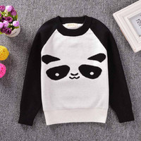 Wholesale Fashion Family fitted sweater Baby girls boys panda sweater Long sleeve Knitted Pullovers Sweater Outfits