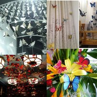 ECO Friendly artificial jewelry - 12pcs set Plastic D Artificial Butterfly with Pin Clip Jewelry Accessories for Home Mosquito Net Curtain Decor DIY Party Wedding Decoration