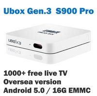 Wholesale Newest Version Unblock UBOX S900 Pro G Oversea Android with More Than Free Live TV Hongkong Taiwan Chinese TV