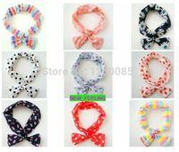 Wholesale 5PCS Mixed Korean Rabbit Ear Bow Headband Metal Wire Head Band for Girls Women Hair Accessory