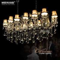 Wholesale Hotel Maria Theresa Lights Authentic Cristal Pendants Rectangle Crystal Chandelier Lamp Foyer Lusters for Dining Room lights