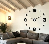 Wholesale New Wall Clock Clocks Watch Horloge Murale Diy d Acrylic Mirror Large decorative Home DIY Quartz Circular Needle Modern