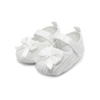 baby christening slip - 2016 Newborn Baby Shoes Ruffles Butterfly knot Design Christening Shoes Non slip Infant Toddler Baby First Shoes