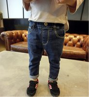Wholesale New Korean version boys jeans pocket embroidery