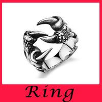 batch rings - Mixed batch fashion cool unique fashion men s ring ring animal claw titanium jewelry