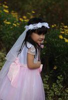 Wholesale 2016 hot sale children s wreath charm bridal veil bridal wreath Taking pictures Wedding accessories veil