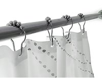 Wholesale Hot Shower Curtain Hooks Stainless Steel Polished Chrome Set of Ring