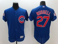 arrival chicago - 2016 New Arrivals Hot MLB Chicago Cubs Jersey Addison Russell Majestic Royal Blue Flexbase Collection MLB Baseball Jerseys