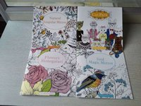 Wholesale 4PCS Pages English Edition Secret Garden Styles Coloring Book For Relieve Stress Kill Time Graffiti Painting Drawing Book