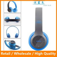 Wholesale P47 Bluetooth Headphone Wireless Headband Earphone Hands Free Music Headset With MF TF for Mobile Phone