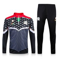 Wholesale 2016 Palestine soccer tracksuit Palestine national team football survetement chandal top quality training sweatershirt pants
