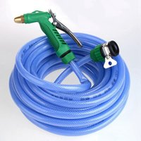 Wholesale Flexible Garden Hose High Pressure Water Gun Garden Lawn Hose Sprayer Car Cleaning Sprinkler Plastic Pipe Water Hose JR0026