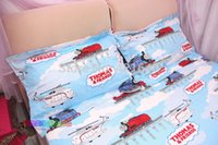 Wholesale cotton kids children adult bunk bed set cartoon one piece anime Thomas train bedding sets boys duvet cover