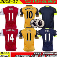 big rip - Big size XXL XXXL XL best Quality Away home RD Jerseys WILSHERE OZIL WALCOTT RAMSEY ALEXIS Premier League shirt