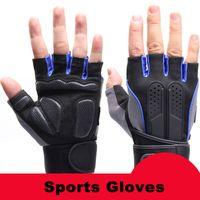 Wholesale Sports Gym Gloves Half Finger Breathable Weightlifting Fitness Gloves Dumbbell Men Women Weight lifting Gym Gloves L031