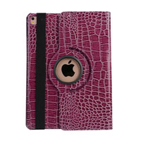 Wholesale For Ipad Pro Inch tablet Rotating Crocodile Leather PC Case Stand Snake Croco Fold Magnetic Pouch Aligator Skin Smart Cover Luxury