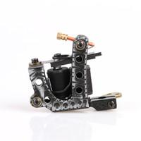 beautiful cast - 2016 New Arrive Handmade Mini Beautiful Tattoo Machine Gun Shader Coils Cast Iron Tattoo Supply TM8312