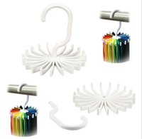 Wholesale Adjustable Hooks Rotating Belt Scarf Rack Organizer Men Neck Tie Hanger Holds Men Tie Storage holders