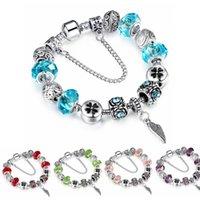Wholesale DIY Charms Bracelet Style Alloy Silver Plated Crystal Created Diamond Charm Bracelet for Women DIY Jewelry SL73
