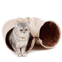 Wholesale Pet Tunnel with Ball Cat Play Tunnel Funny Cat Long Tunnel Kitten Play Toy Collapsible Bulk Cat Toys PlayTunnel Holes love