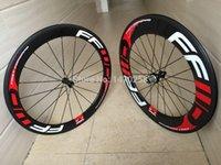 Wholesale 60mm clincher tubular bicycle wheels c Carbon fiber road bike Racing wheelset carbon road mm Clincher Racing Bike c