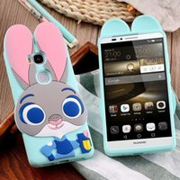 animal mate - New D Cartoon Cute Zootopia Animals Rabbit Judy Case For Huawei P8 Mate7 Mate Play X Soft Silicon Back Cover Rock Pocket Bag