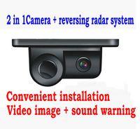 Wholesale 2 in Car reversing Radar backup rear view camera with ultrasonic sensor Parking Sensor Parking Assist System