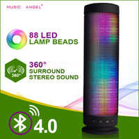 Wholesale Bluetooth Dream Speaker in Fantasy LED Light Music wireless Outdoor Speakers Portable Hand free Pulse speaker TF Card USB