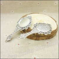 antique tin mirrors - Antique silver Charms Mirror Pendant Fit Bracelets Necklace DIY Metal Jewelry Making