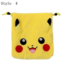Wholesale New Cartoon plush pockets pull rope pockets outsourcing package cartoon coin purse storage bag A0293