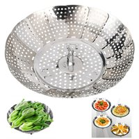 Wholesale 2016 Patent Design Foldable Dish Plate Vegetable Steamer cooker kitchen tool Stainless Steel