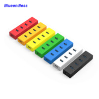 Wholesale In Stock different colors USB HUB Plastic with HIgh Speed GBPS USB Splitter Computer Peripherals Accessories