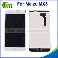 bars mx - 50 For Meizu MX3 LCD Display Touch Screen Digitizer Original Replacement Parts for Meizu MX Black or White Tim05