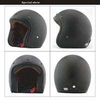 Wholesale E support Fashion Retro Motos Harley Helmets Motocross Motorcycle Helmet Capacete Unisex Men And Women