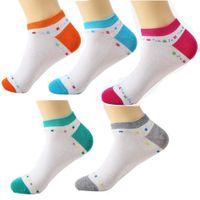 Wholesale Fashion spring summer Women s cotton socks Ship socks leisure female socks Color Conventional New goods