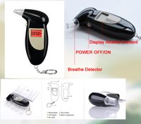 Wholesale Black Digital Alcohol Breathalyzer Breath Tester LCD Breathalizer Tester Device Machine with Free mouthpiece